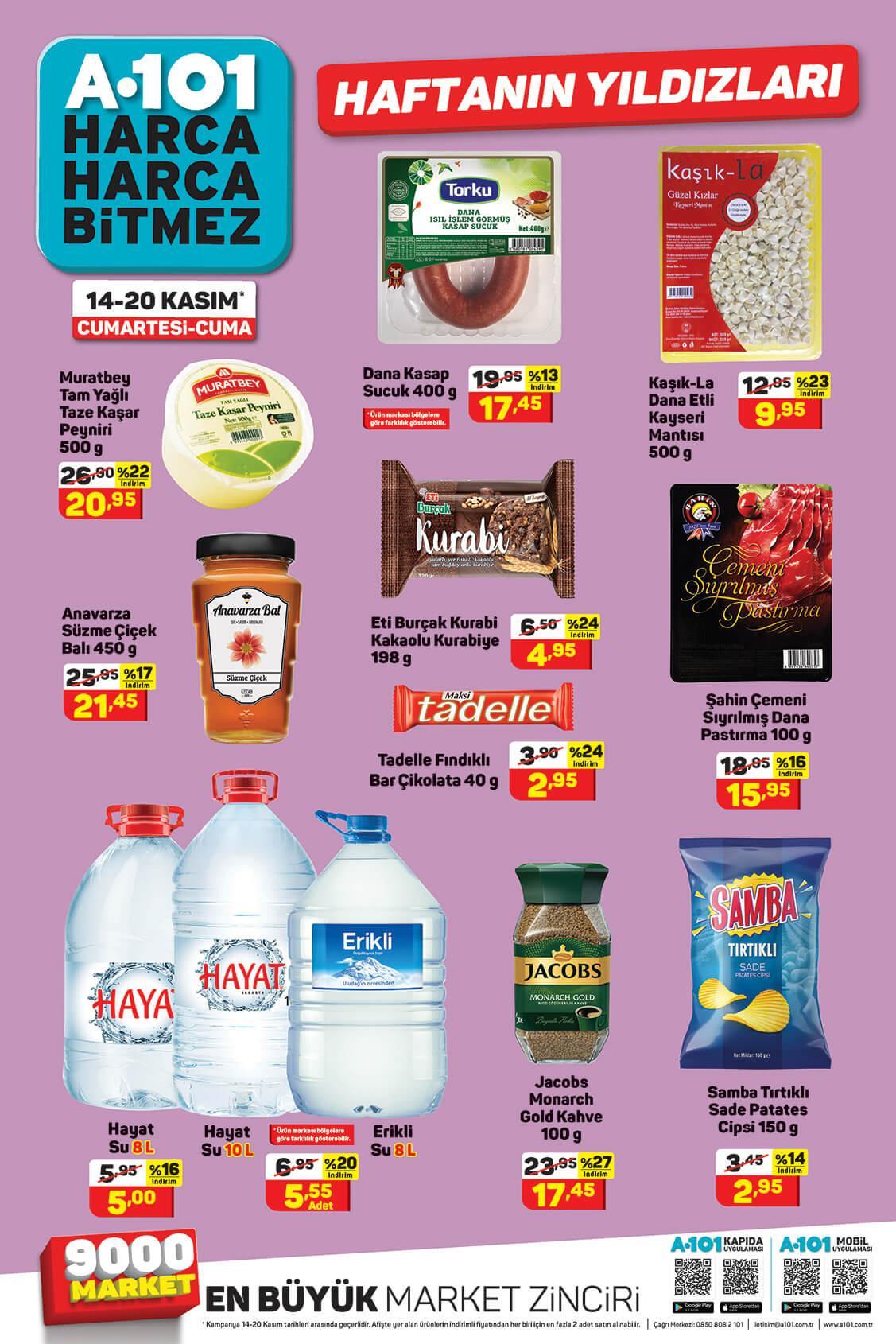 A101 Aktüel Haftanın Yıldızları 01 Kasım - 08 Kasım Sayfa:1