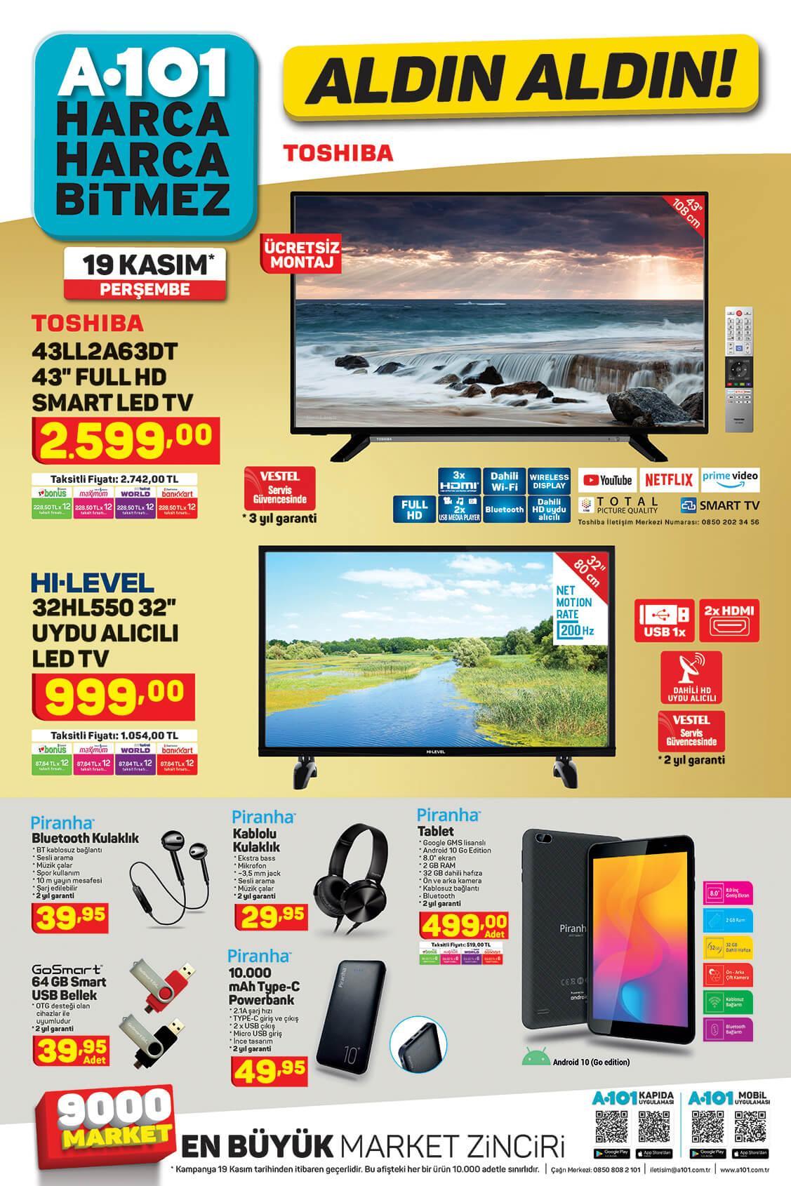 A101 Aktüel Aldın Aldın 19 Kasım - 26 Kasım Sayfa:1