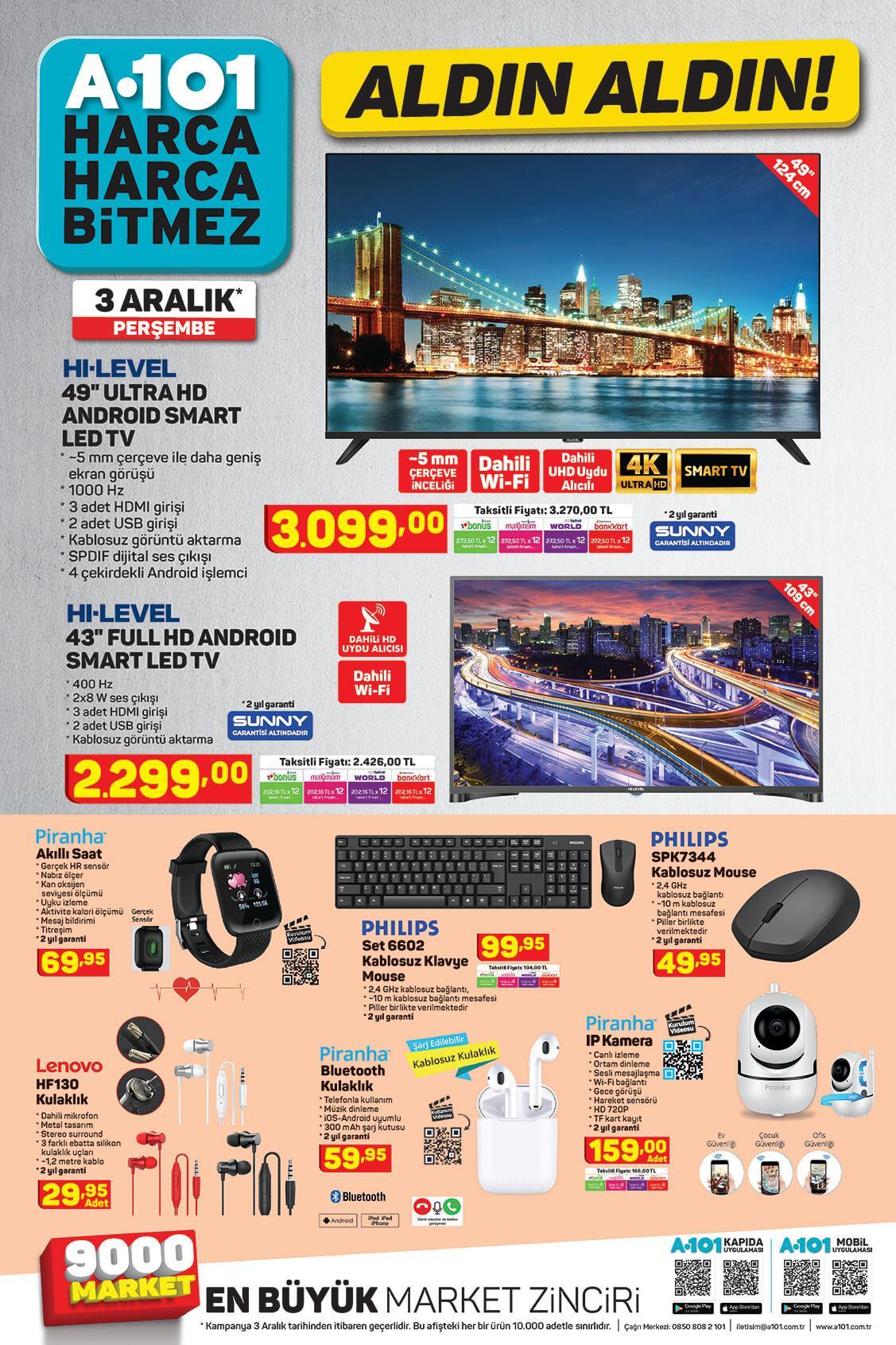A101 Aktüel Aldın Aldın 03 Aralık - 10 Aralık Sayfa:1