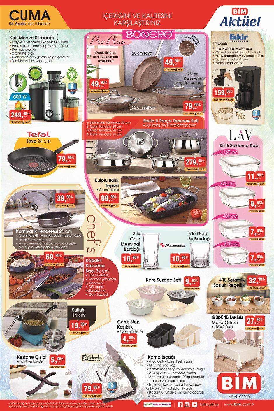BİM Aktüel Haftanın Fırsatları 04 Aralık - 11 Aralık Sayfa:1